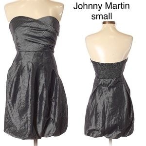 Johnny Martin NWOT strapless cocktail dress S